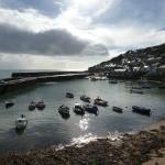 Mousehole, Cornwall, in Autumn storm